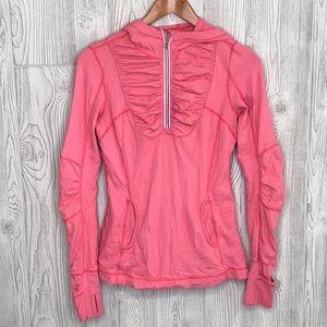 Lululemon Pink Hooded Run Zip Pullover